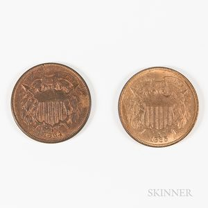 1864 and 1865 2 Cents