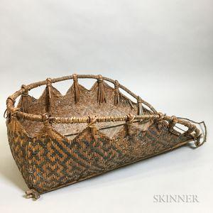 Woven Splint Hanging Wall Basket