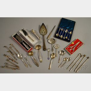 Group of Miscellaneous Silver and Silver-plated Flatware