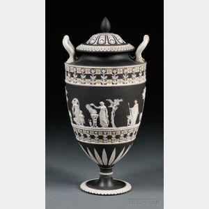 Wedgwood Three-color Jasper Dip Diceware Vase and Cover