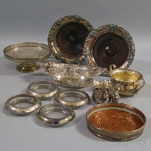 Small Group of Sterling and Silver-plated Tableware