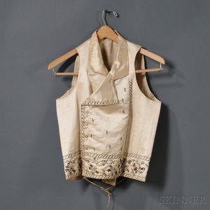 Embroidered Silk Man's Vest