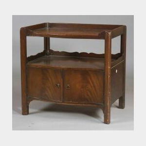 George III Style Mahogany Side Cabinet