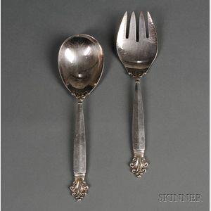 Sanborn's Sterling Silver Serving Two-Piece Serving Set