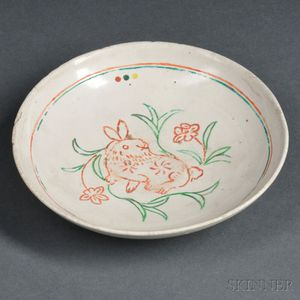 White-glazed Dish