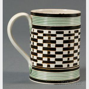Engine-turned Mochaware Mug