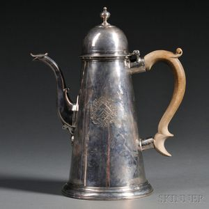 George I Silver Lighthouse Coffeepot