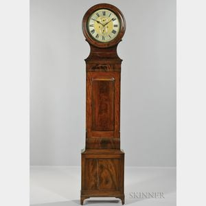 Scottish Mahogany Drum-head Tall Case Clock