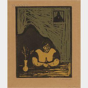 Edvard Munch (Norwegian, 1863-1944)      Den tykke horen (The Fat Whore)
