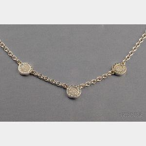 18kt White Gold and Diamond Necklace, Bulgari
