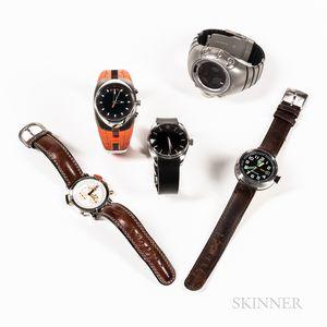 Five Fashion Wristwatches
