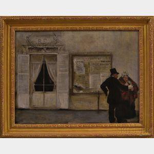 After Jean Francois Raffaelli (French, 1850-1924)      Couple on a Sidewalk