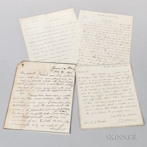 Documents, Approximately Forty Signed Letters, Photographs, and Other Material.