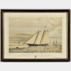 "The ""America,"" Schooner Yacht   Lithograph"