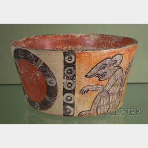Pre-Columbian Polychrome Pottery Bowl
