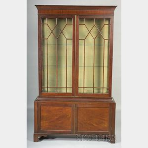 George III Style Mahogany Bookcase Cabinet