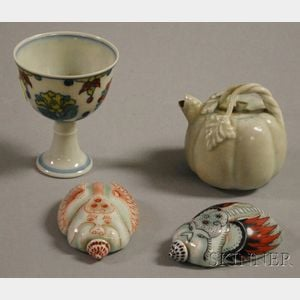 Four Small Asian Porcelain Articles
