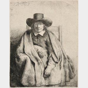 Rembrandt van Rijn (Dutch, 1606-1669)      Clement de Jonghe, Printseller