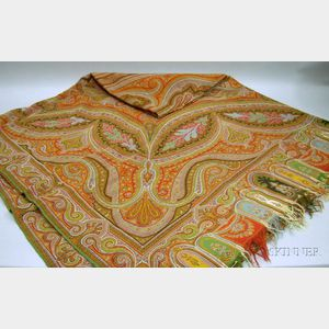 Large Wool Paisley Shawl