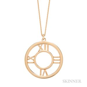 "18kt Gold ""Atlas"" Pendant Necklace, Tiffany & Co."