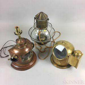 Three Nautical or Marine Items