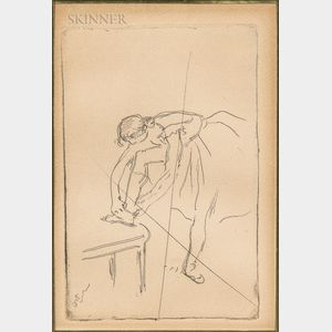 Edgar Degas (French, 1834-1917)       Danseuse mettant son chausson