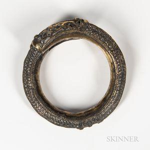 Brass Toba Batak Arm Ring