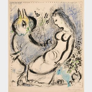 Marc Chagall (Russian/French, 1887-1985)      La nymphe bleue