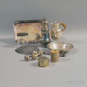 Small Group of Mostly Sterling Silver and Silver-mounted Tableware