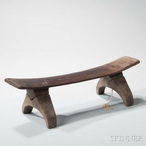 Fiji Islands Carved Wood Headrest