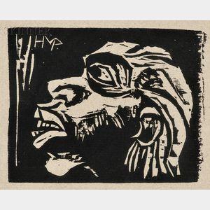 Max Pechstein (German, 1881-1955)      Maske