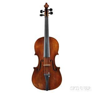 German Violin, Johann Mahlke, Berlin, 1892