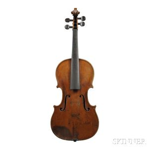 German Violin, Klingenthal School, c. 1850