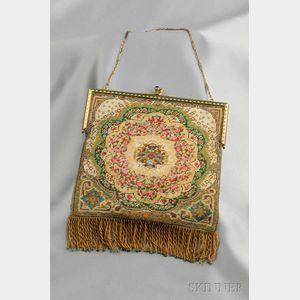 Edwardian 14kt Gold and Enamel Beaded Bag, Tiffany & Co.