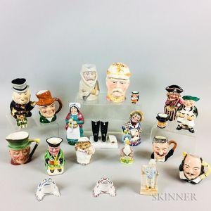 Twenty-one English Whimsical Ceramic Items