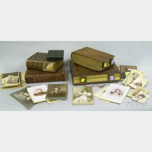 Four Victorian Embossed Leather Photograph Albums