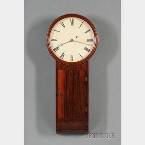 Mahogany Tavern Clock Attributed to Aaron Willard