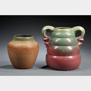 Two Pottery Vases: Weller and Fulper