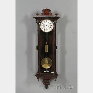 Rosewood Vienna Regulator Wall Clock by Gustav Becker