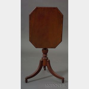 Classical Mahogany Carved and Veneered Tilt-top Candlestand