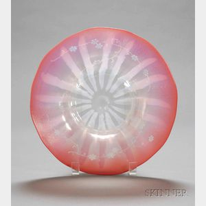 Red Opalescent Bowl