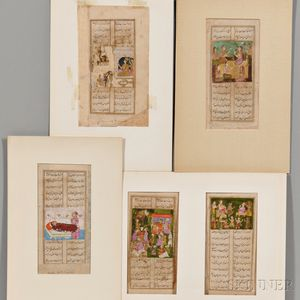 Five Illuminated Folio Manuscripts