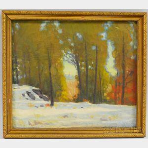 Louis Novak (American, 1903-1983)    View Through the Trees