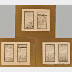 Three Bifolium Manuscripts