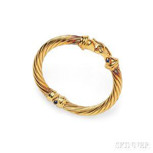 18kt Gold and Sapphire Bracelet, David Yurman