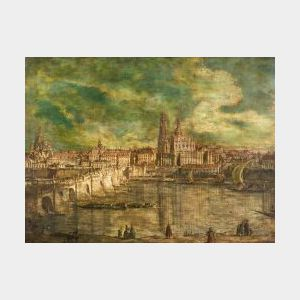 Manner of Bernardo Bellotto (Italian, 1720-1780)  View of Dresden