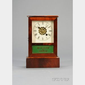 Mahogany and Pine Cottage Clock