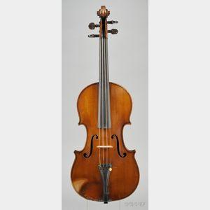 French Violin, Emile Bonnel, Rennes, 1891