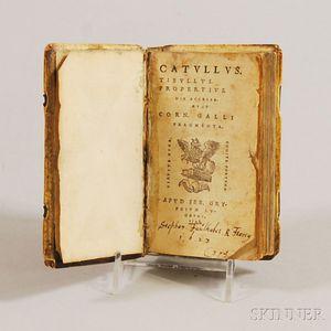 Catullus (c. 84 BC-c. 54 BC), Tibullus (c. 55 BC-19 BC),    Propertius (50 BC-15), and Cornelius Gallus (c. 70 BC-c. 26 BC). [Opera]