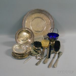 Group of Sterling Silver Tableware and Personal Articles